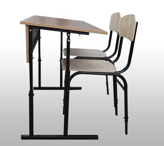 Стол ученический двухместный регулируемый по высоте и углу наклона столешницы